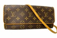 Auth Louis Vuitton Shoulder Bag Pochette Twin GM M51852 Browns Monogram R-1047