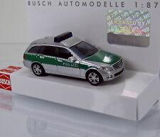 Busch 43662 Mercedes Benz C Klasse T Modell Avantgarde Polizei grün silber 1 87