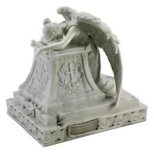Adult 215 Cubic Inch Angel Mourning Sculptured Resin Cremation Urn w. Nameplate