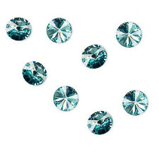 4 Light Turquoise Swarovski Crystal Foiled 1122 Rivoli Stone Beads 14MM