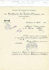 Dépt 13 - St-Chamas - Rare Lettre du Syndicat de la Poudrerie 1907 voir Tampons