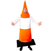 ROAD CONE FANCY DRESS TRAFFIC CONE COSTUME STAG NIGHT ADULT FUNNY OUTFIT ORANGE