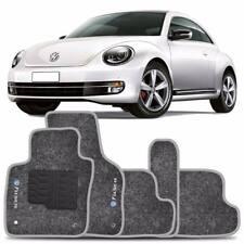 VW New Beetle INTERIOR CARPET FLOOR MAT LOGO 2012-2017 GRAY FloorLiner Mats