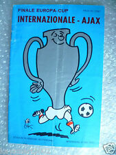 1972 European Cup FINAL INTER MILAN v AJAX, 31st May