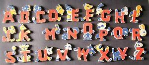 """Vintage Alphabet Animal Letters ~ Pressed Cardboard ~ Missing Letter """"L"""""""