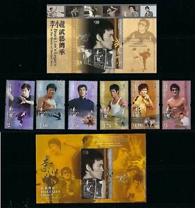China Hong Kong 2020 Bruce Lee Stamps set Martial Art  李小龍