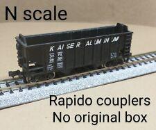 Kaiser Aluminum SHPX 2 bay hopper car N scale black open mining ore coal rock RR