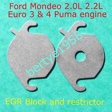 EGR valve blanking & restrictor plate Jaguar X-type Ford Mondeo 2.0 2.2 TDCi