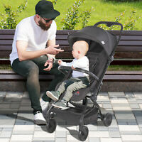 Lightweight Stroller Foldable Compact Travel Pushchair Buggy Reclinable Backrest