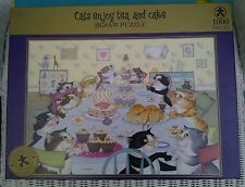 LINDA JANE SMITH 1000 PIECE JIGSAW PUZZLE,CATS ENJOY TEA AND CAKE,M&S