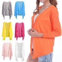 Women Summer Beach Sunscreen Long Sleeve Cardigan Shawls Coat Tops Outdoor