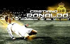 "Cristiano Ronaldo Football Soccer Star Fabric Poster 21"" x 13"" Decor 39"