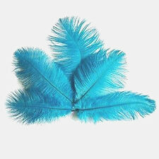 "12 Pcs. Hand Seleted Beautiful Light Blue Ostrich Feathers 5-7"" - US Seller"