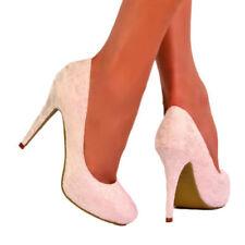 Stiletto Satin Court Floral Heels for Women