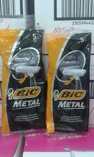 10 BIC METAL Mens Disposable Razors ( 2 pack of 5 shavers ) Free Shipping