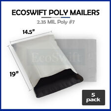 5 145x19 White Poly Mailers Shipping Envelopes Bags