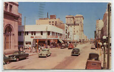 Franklin Street Looking North Cars Tampa Florida 1951 postcard