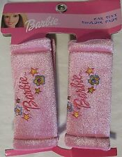NEW BARBIE PACK OF 2 PINK PADDED EMBROIDERED CAR SEAT SHOULDER PADS FREE US SHIP