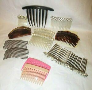 Vintage Hair Accessories Clip Comb Rhinestone Faux Pearl Hair Jewelry 14pcs C