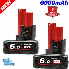 2X 6.0Ah For Milwaukee M12 LITHIUM ION XC High Capacity Battery 12V 48-11-2402