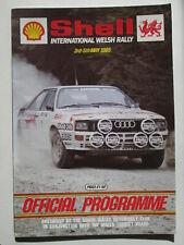 Shell international Welsh rally programme 1985. Rallye programme.RAC.