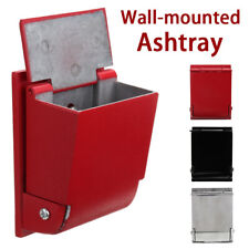 Aluminum Alloy Wall Mounted Ashtray Cigarette Holder Cylinder Smoke Area Outdoor
