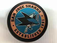 San Jose Sharks Puck Men's Ice Hockey Established Logo Black NHL