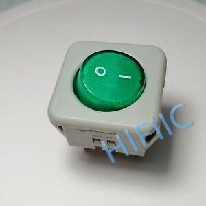 SOKEN RK1-05 16A/250VAC ON/OFF 4 Pins Rocker Switch Green Light