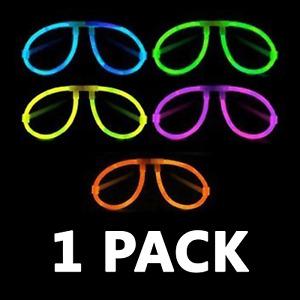 1 Pack x Glow Eye Glasses Party Sticks Light Stick Neon Night Jewellery Foil