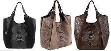 Damentaschen im Schultertaschen-Stil aus Leder mit Verstellbare Trageriemen und Magnetverschluss