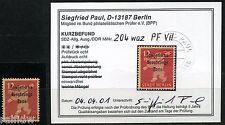 SBZ 12 Pfg. Berliner Bär + Aufdruck 1948** Fußbinde Michel 204 VII Befund (S9294