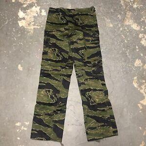 Vintage 1960s Original Vietnam War Tiger Stripe Cargo Pants