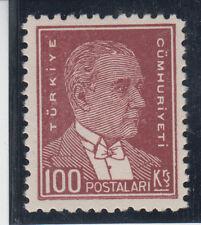 Turkey Kemal Ataturk 100K matte paper perforation 11 1/2 Mi#961x 1931 MNH **