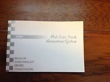 2004 GMC/Chevrolet/Buick/Olds Mid-Size Navigation System Manual Supplement
