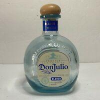 Don Julio Blanco Tequila Glass Bottle Empty 1.75 Liter Wooden Cork Arts Crafts