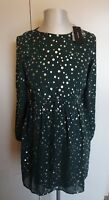 BNWT Womens Vero Moda Green Gables Polka Dot Short Dress - Size Medium