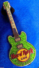 GOLD COAST NAMED SURFERS PARADISE 3 STRING GREEN CORE GUITAR Hard Rock Cafe PIN