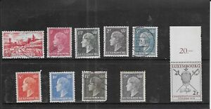 LUXEMBOURG 1948 PLUS 1 .1954. SELECTION OF 10. VERY FINE USED. AS PER SCAN