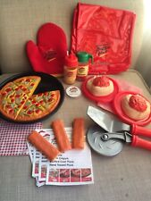 Pizza Hut Play Food Hot Pad Delivery Bag Spaghetti Pizza Menu Cutter Breadsticks