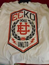 NWT Men's Ecko T-shirt Tee  XXXL WHITE  WITH BLACK AND RED RHINO MMA UNLTD 3XL