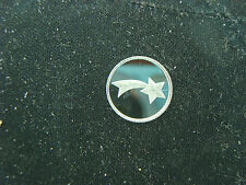 Shooting Star   1 Gram .999 Pure Silver Round Coin Bar Bullion  Good Luck Charm