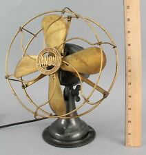 Small Working Antique 1903 Jandus, Brass Tilt Desk Fan, NO RESERVE!