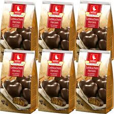 Weiss 6x 150g Lebkuchen Herzen mit 23% Zartbitterschokolade überzogen 900g