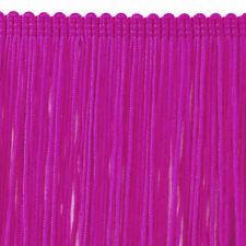"""11"""" Long Matte Deep Fuchsia Nylon High Density Chainette Fringe Trim"""