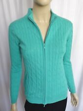 PETER MILLAR LONG SLEEVE IRISH GREEN CABLE KNIT SWEATER SIZE S ( BUST 34 )