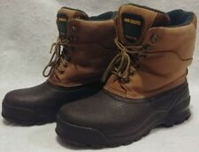 JOHN DEERE BOOTS Men's size 9 Thermolite Winter Work Boots EUC Free Shipping!
