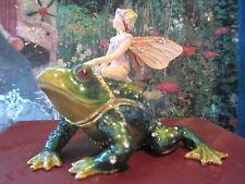 Fairy On Frog ~ Enamel Trinket Box #4197