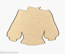 Fancy Blouse Unfinished Wood Shape Cut Out FB353 Crafts Lindahl Woodcrafts