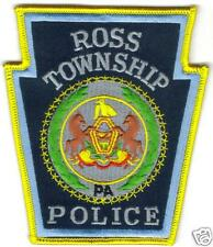 PENNSYLVANIA ROSS TOWNSHIP  POLICE  PATCH