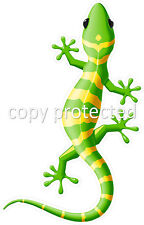 Yellow and Green Gecko lizard Car Ute Bumper Sticker Decal Ipad laptop Tablet